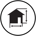 House with measurements icon represents New Projects
